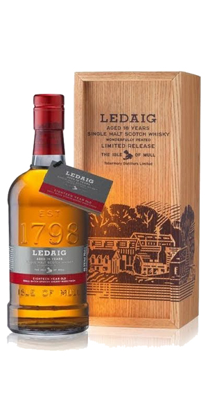 LEDAIG 18 YEARS SHERRY FINISH 46,3% VOL 0,7L